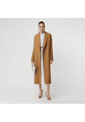 Burberry Double-breasted Wool Tailored Coat, Brown