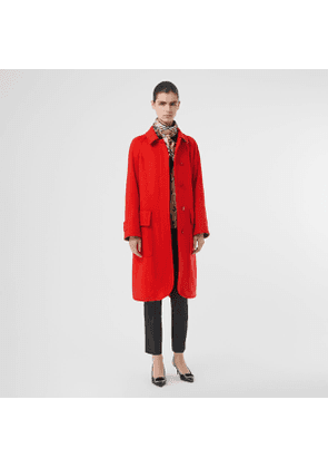 Burberry Cashmere Car Coat, Red