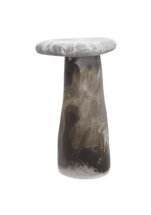 Stone Boulder table - Oyster Shell Swirl