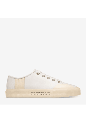 Bally Vrey White, Women's calf leather low-top trainer in white