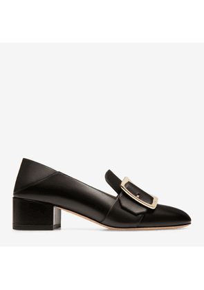 Bally Janelle Black, Women's calf leather pump with 40mm heel in black
