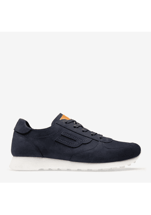 Bally Galaxy Blue, Men's nubuck calf leather trainer in ink