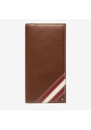 Bally Paliro Brown, Men's calf leather continental wallet in roast
