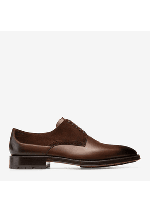 Bally Badux Brown, Men's calf leather derby shoe in mid brown