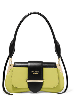 Prada - Sidonie Two-tone Leather Shoulder Bag - Black