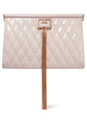 Givenchy - Gem Large Quilted Glossed-leather Shoulder Bag - Neutral