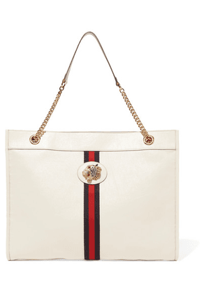 Gucci - Rajah Large Embellished Textured-leather Tote - White