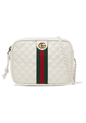 Gucci - Trapuntata Mini Quilted Leather Camera Bag - White