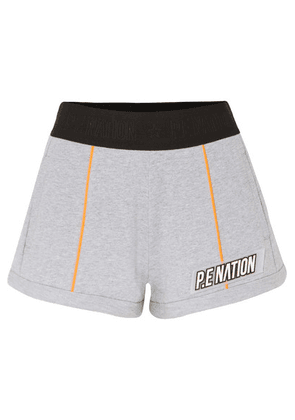 P.E NATION - Superfly French Cotton-terry Shorts - Gray