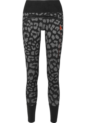adidas by Stella McCartney - + Parley For The Oceans Believe This Comfort Leopard-print Stretch Leggings - Black