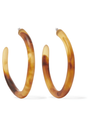 Dinosaur Designs - Tortoiseshell Resin Hoop Earrings - one size