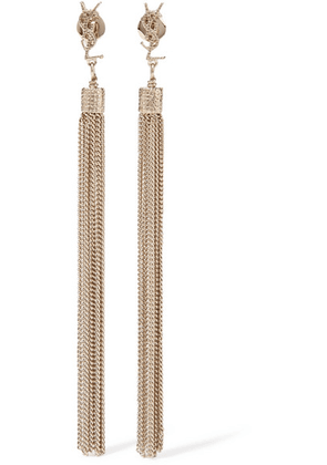 Saint Laurent - Gold-plated Tassel Earrings - one size