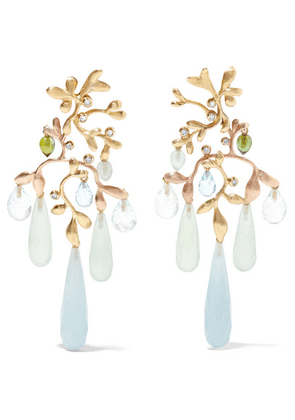 OLE LYNGGAARD COPENHAGEN - Gipsy 18-karat Yellow And Rose Gold Multi-stone Earrings - one size