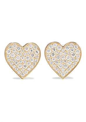 Sydney Evan - Mini Heart 14-karat Gold Diamond Earrings - one size