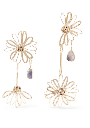 STVDIO - Gold-tone Opal Earrings - one size