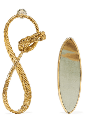 STVDIO - Regina Gold-tone Jasper Earrings - one size