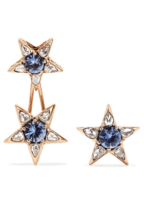 Selim Mouzannar - Istanbul 18-karat Rose Gold, Sapphire And Diamond Earrings - one size