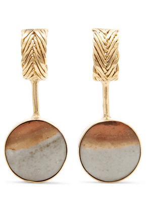 STVDIO - Petite Cecile Drops Gold-tone Desert Jasper Earrings - one size