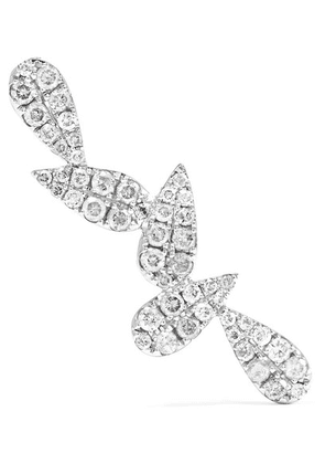 Yvonne Léon - 18-karat White Gold Diamond Earring - one size