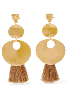 Johanna Ortiz - + Paula Mendoza & Cano A Taste Of Spring Fringed Gold-tone Earrings - one size