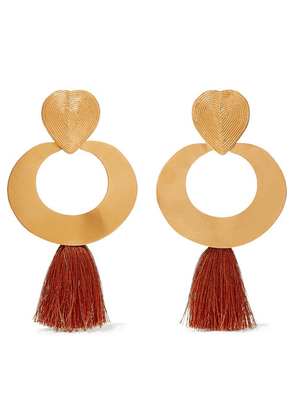 Johanna Ortiz - + Paula Mendoza & Cano Olive Trees Fringed Gold-tone Earrings - one size