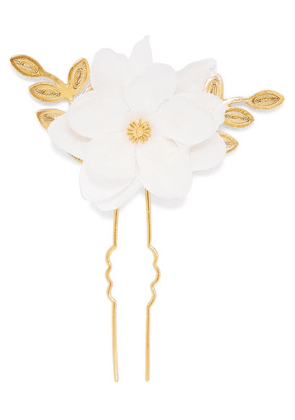 Mallarino - Gaby Gold Vermeil And Silk Hair Pin - one size