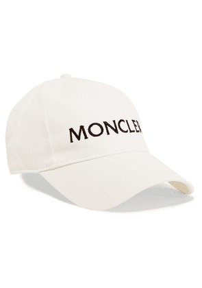 Moncler - Embroidered Cotton-twill Baseball Cap - White