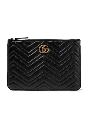 Gucci - Marmont Quilted Leather Pouch - Black