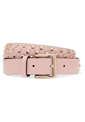 Valentino - Valentino Garavani The Rockstud Leather Belt - Pink
