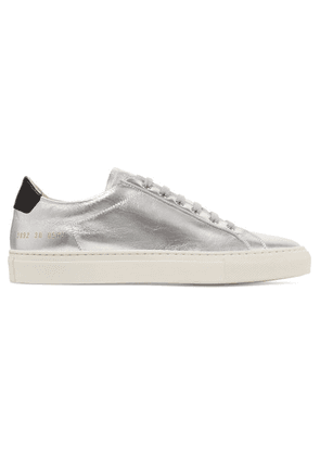 Common Projects - Retro Metallic Leather Sneakers - Silver