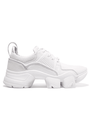 Givenchy - Jaw Mesh And Suede-trimmed Leather, Neoprene And Rubber Sneakers - White