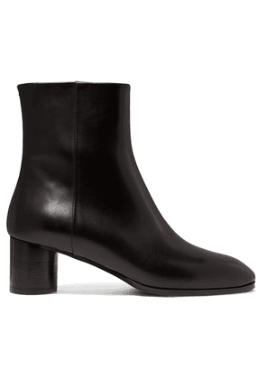 aeyde - Emily Leather Ankle Boots - Black
