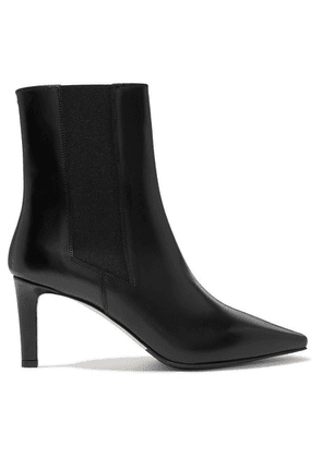 aeyde - Leila Leather Ankle Boots - Black