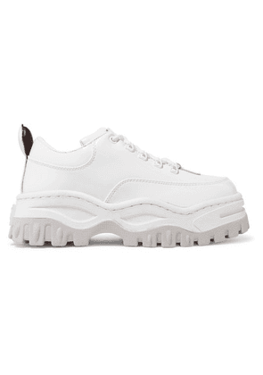 Eytys - Angel Patent-leather Platform Sneakers - White