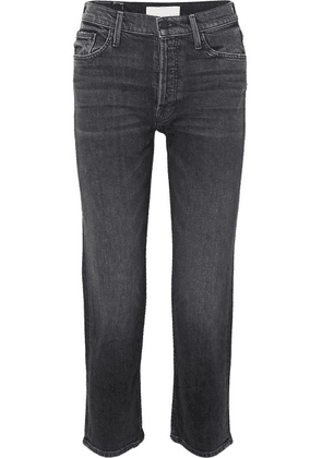 Mother - The Tomcat Cropped High-rise Straight-leg Jeans - Black