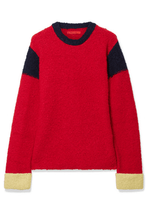 Eckhaus Latta - Kermit Color-block Knitted Sweater - Red