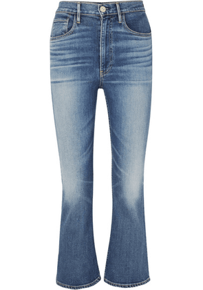 3x1 - W5 Empire Cropped High-rise Flared Jeans - Mid denim