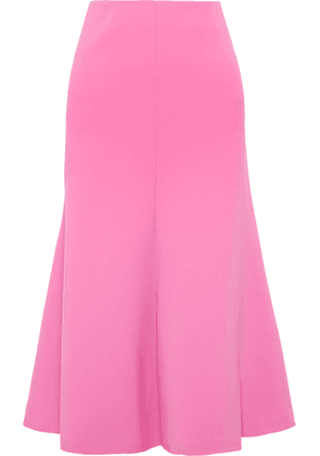 A.W.A.K.E. - Fluted Crepe Midi Skirt - Pink