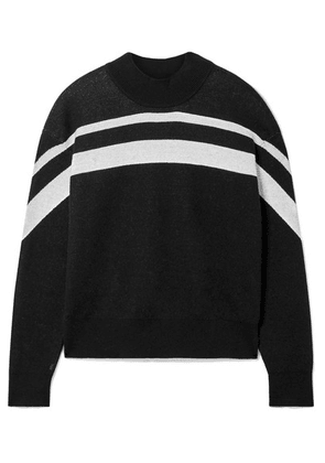 ATM Anthony Thomas Melillo - Striped Cotton-blend Sweater - Black