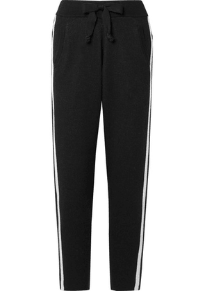 ATM Anthony Thomas Melillo - Striped Cotton-blend Track Pants - Black
