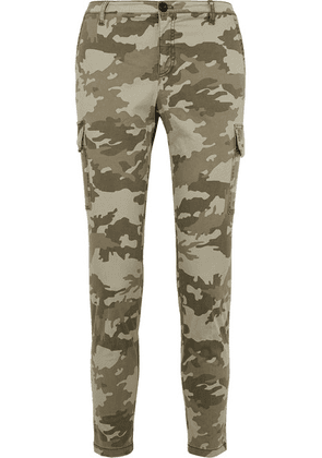 ATM Anthony Thomas Melillo - Camouflage-print Cotton-blend Slim-leg Pants - Green
