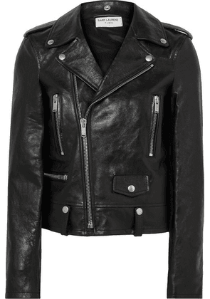 Saint Laurent - Leather Biker Jacket - Black