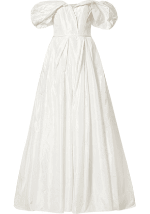 Carolina Herrera - Off-the-shoulder Silk-taffeta Gown - Ivory