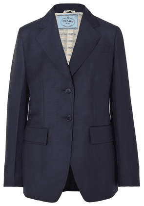 Prada - Mohair And Wool-blend Blazer - Navy