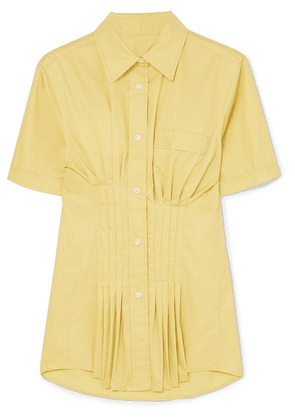 Isabel Marant - Gramy Pleated Cotton-poplin Shirt - Pastel yellow
