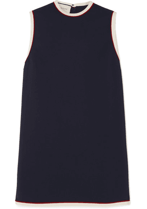 Gucci - Grosgrain-trimmed Cady Tunic - Navy