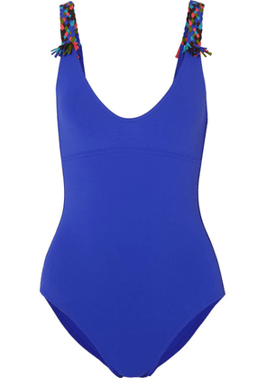 Eres - Mambo Mezcal Fringed Swimsuit - Bright blue