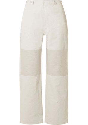 10ad32f200 TRE by Natalie Ratabesi - The Missy Two-tone Linen And Cotton-blend Wide
