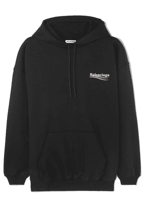 Balenciaga - Oversized Cotton-jersey Hoodie - Black
