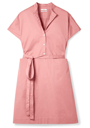 Co - Belted Cotton-sateen Dress - Blush